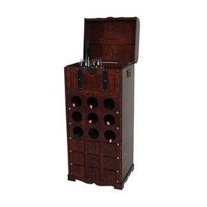 Hnědý stojan na 9 lahví vína Mendler Shabby Colonial