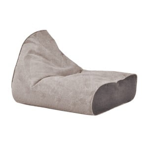 Větší šedý sedací vak s antracitovým detailem Poufomania Sunset