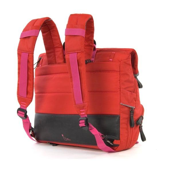 Taška/batoh Slim Case TUbí, červená/růžová