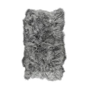 Šedý ovčí kožešinový koberec s dlouhým chlupem Arctic Fur Nilja, 120 x 180 cm