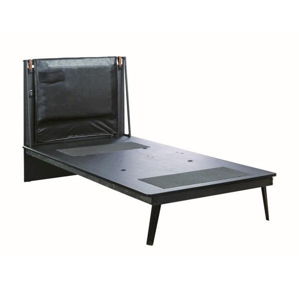 Jednolůžková postel Manly Dark Metal Line Bed, 110 x 203 cm