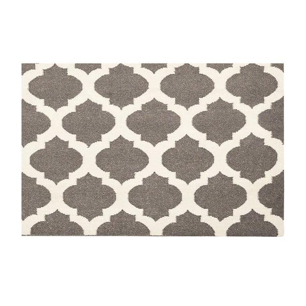 Vlněný koberec Julia Dark Grey, 140x200