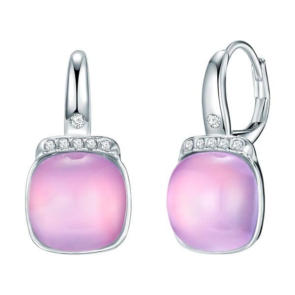 Náušnice s krystaly Swarovski Pure Pink