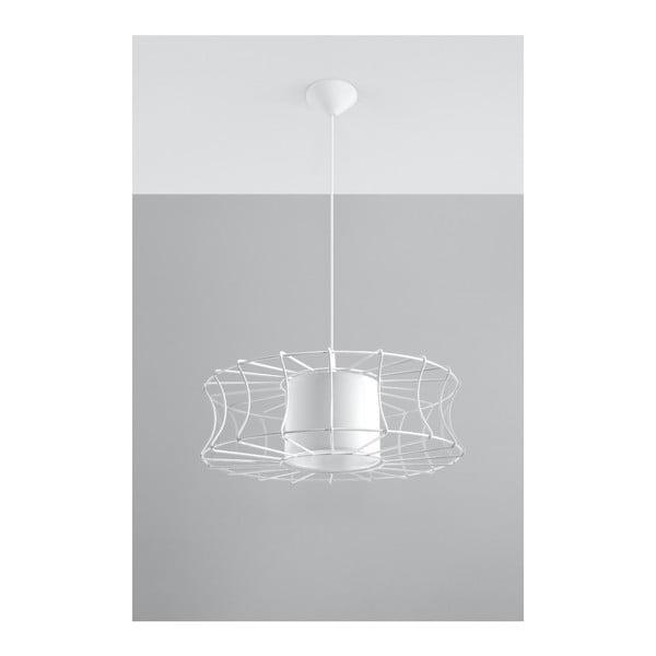 Bílé závěsné svítidlo Nice Lamps Parla