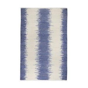 Ručně vyráběný koberec The Rug Republic Fentom Ivory Blue, 120 x 180 cm
