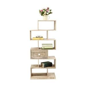 Bibliotecă din lemn de mango Kare Design Puro Zick Zack