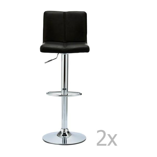 Sada 2 barových černých židlí Furnhouse Coco