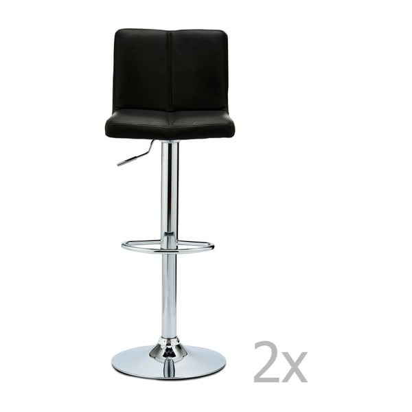 Set 2 scaune de bar Furnhouse Coco, negru