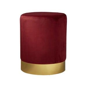 Červená čalouněná stolička Native Mystique, ⌀ 35 cm