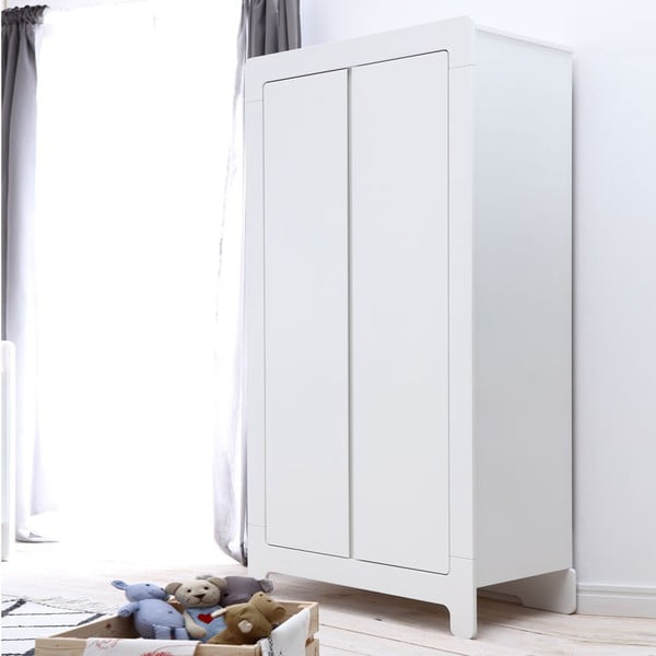 Bílá šatní skříň Pinio Moon, 185x100cm