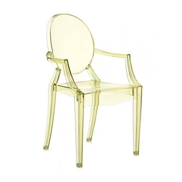Světle žlutá židle Kartell Louis Ghost