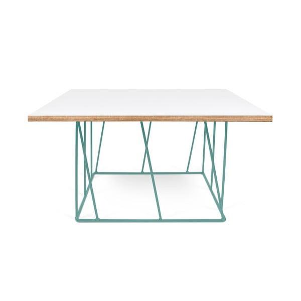 Bílý konferenční stolek se zelenými nohami TemaHome Helix, 75 cm