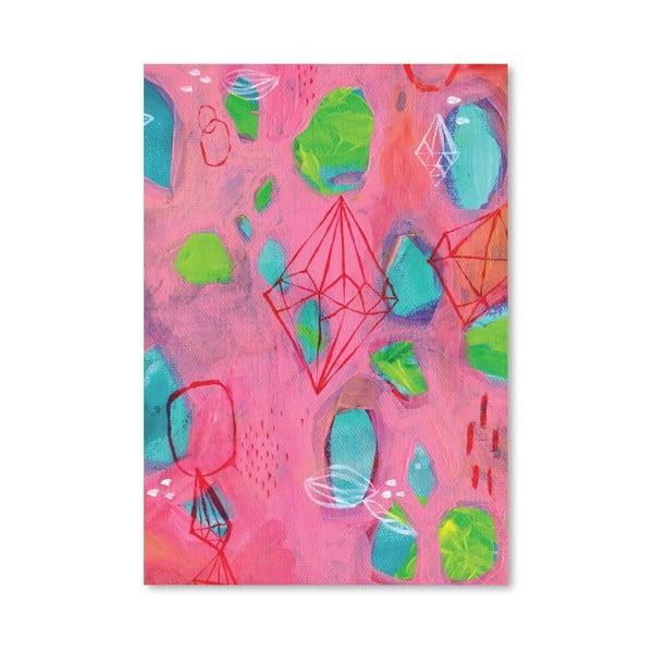 Plakát Geometry Pink, 30x42 cm