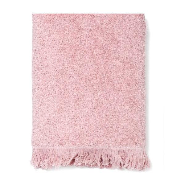 Sada 2 růžových bavlněných osušek Casa Di Bassi Bath, 70x140cm