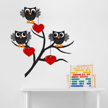 Autocolant decorativ pentru perete Owl & Heart de la Unknown