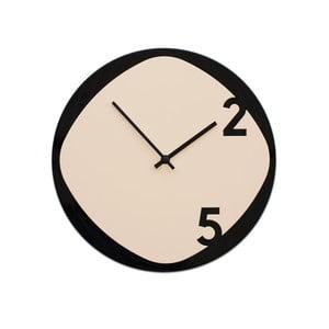 Hodiny Clock25 Beige&Black