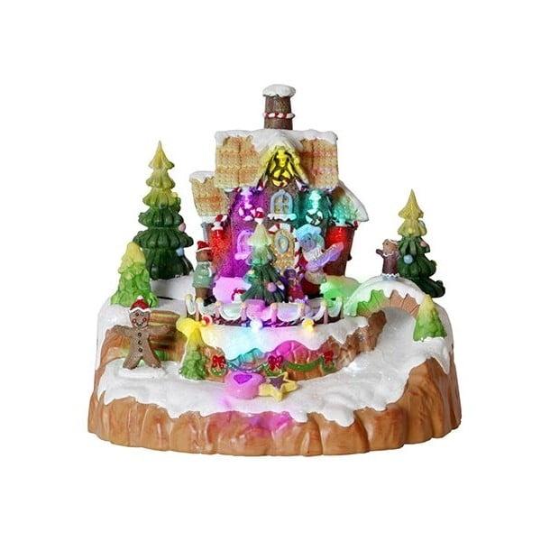 Svítící dekorace Gingerbread House