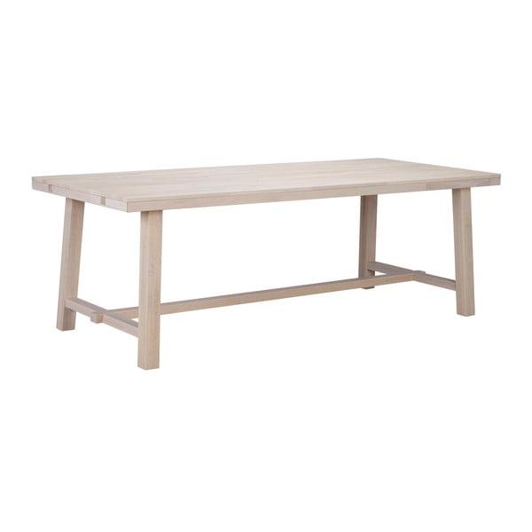 Matně lakovaný dubový jídelní stůl Rowico Brooklyn, délka 220 cm