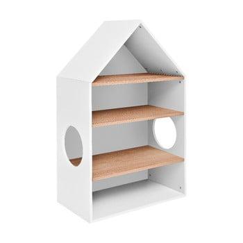 Bibliotecă în formă de casă BELLAMY Lotta, alb imagine
