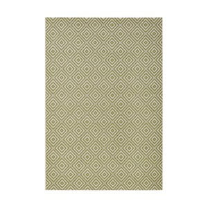 Zelený koberec vhodný do exteriéru Bougari Karo, 140x200cm