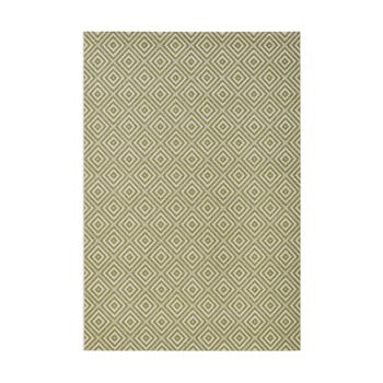 Covor adecvat interior/exterior Bougari Karo, 200 x 290 cm, verde de la Bougari