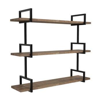 Raft de perete din lemn de pin Uras, maro