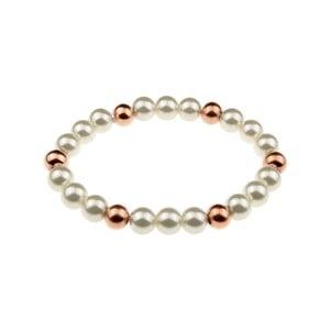 Dámský perlový náramek z nerezové oceli v barvě růžového zlata Victoria Wall Fiana