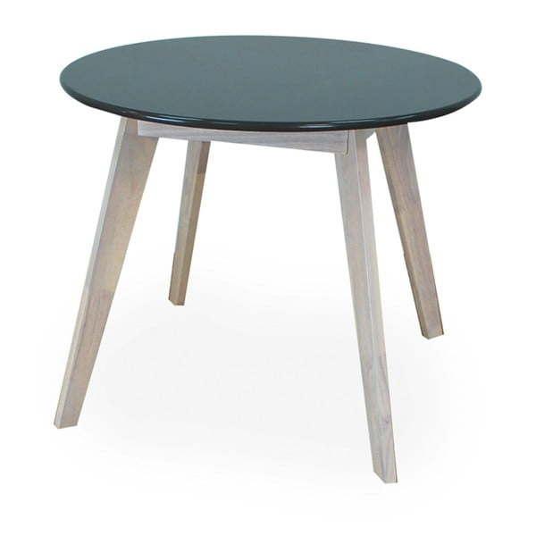 Kulatý stůl s černou deskou a nohama z kaučukového dřeva Signal Helsinki, ⌀100cm