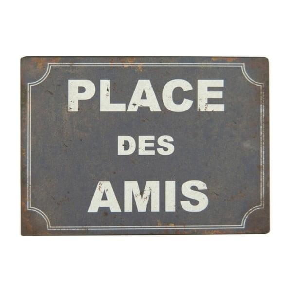 Tabliczka z blachy Antic Line Place Des Amis