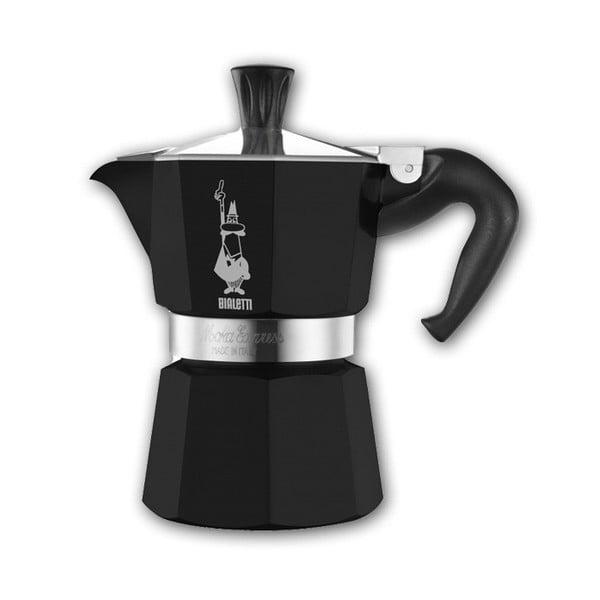 Černý espresso kávovar Bialetti Moka, na 3 šálky
