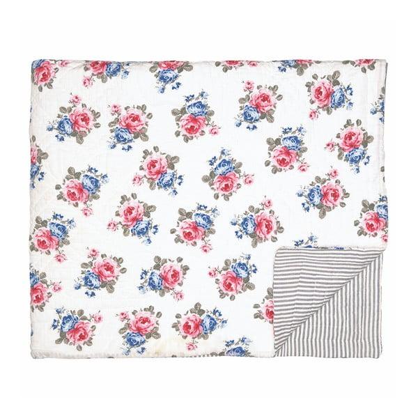 Kvetovaný prikrývka cez posteľ Green Gate Hailey, 140×220 cm