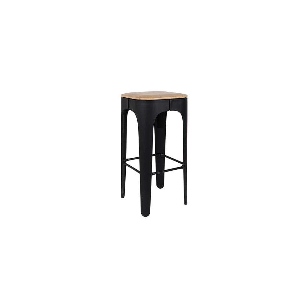 Černá barová stolička White Label Up-High