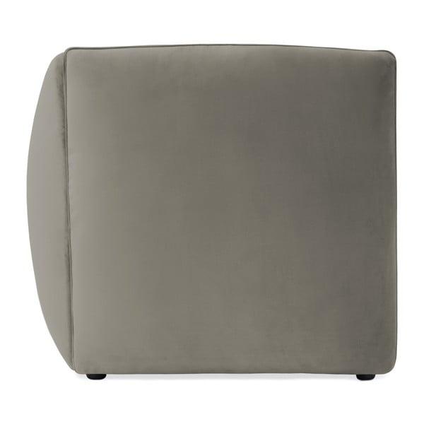 Šedý levý rohový modul pohovky Vivonita Velvet Cube