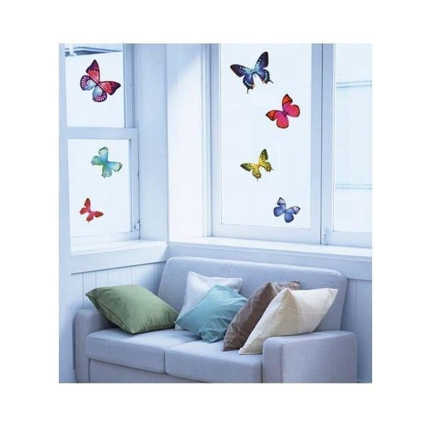 Komplet 26 sztuk naklejek Ambiance Exotic Butterflies