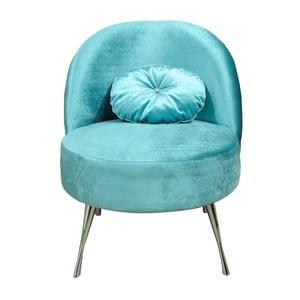 Křeslo Glamour, blankytně modré