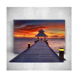 Nástěnný 3D obraz Mosticx Sunset Dock, 40 x 60 cm
