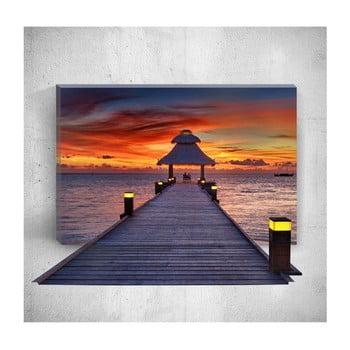 Tablou de perete 3D Mosticx Sunset Dock, 40 x 60 cm de la Mosticx