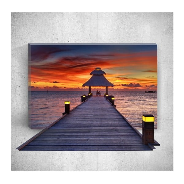 Tablou de perete 3D Mosticx Sunset Dock, 40 x 60 cm
