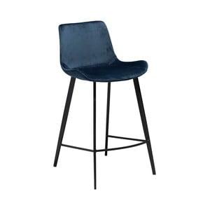 Tmavě modrá barová židle DAN–FORM Denmark Hype Velvet