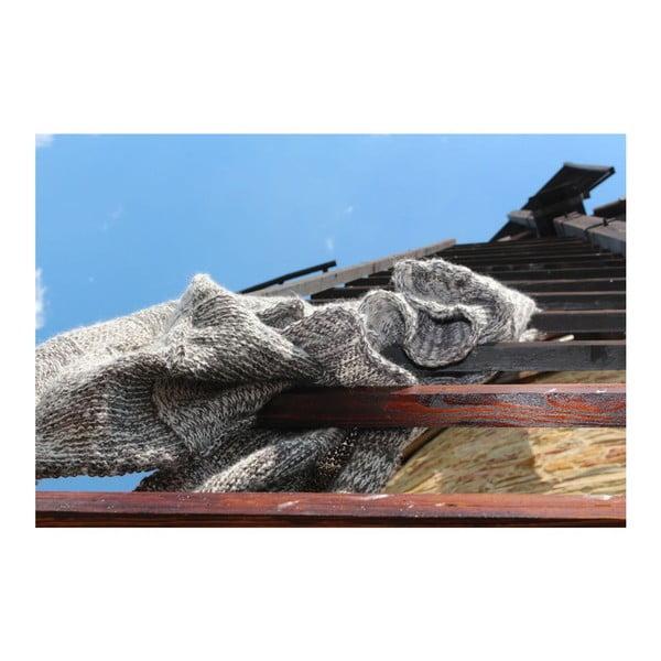 Pletený pléd Catness, hnědý, 120x170 cm