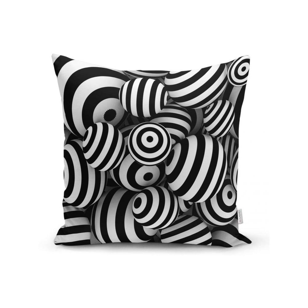 Povlak na polštář Minimalist Cushion Covers BW Geometric Balls, 45 x 45 cm