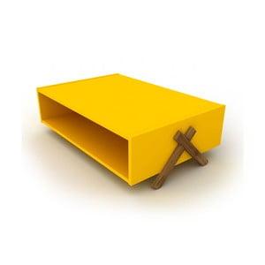 Žlutý konferenční stolek Rafevi Kipp