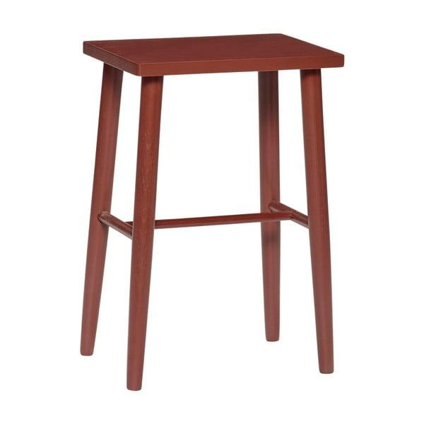 Červená barová stolička z dubového dřeva Hübsch Oak Bar stool, výška 52 cm
