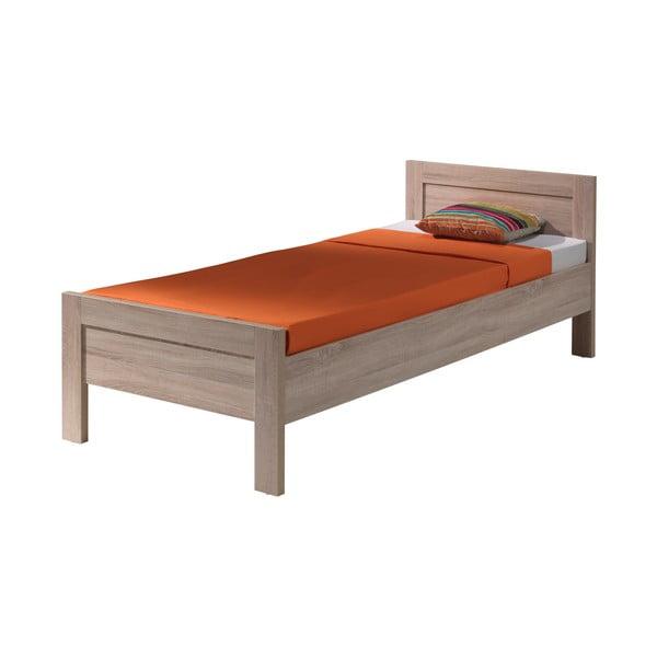 Hnedá posteľ Vipack Aline, 90×200 cm