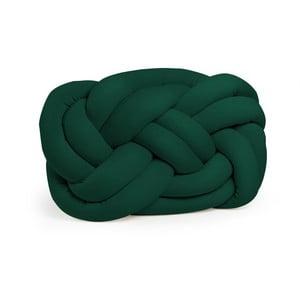 Tmavě zelený polštář Cloud Knot Decorative Cushion, 40 x 32 cm