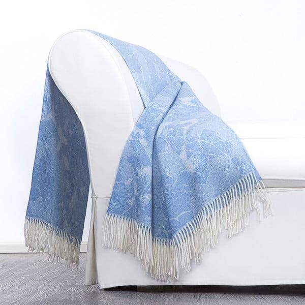 Vlněný pléd Danimarca 130x180 cm, modrý