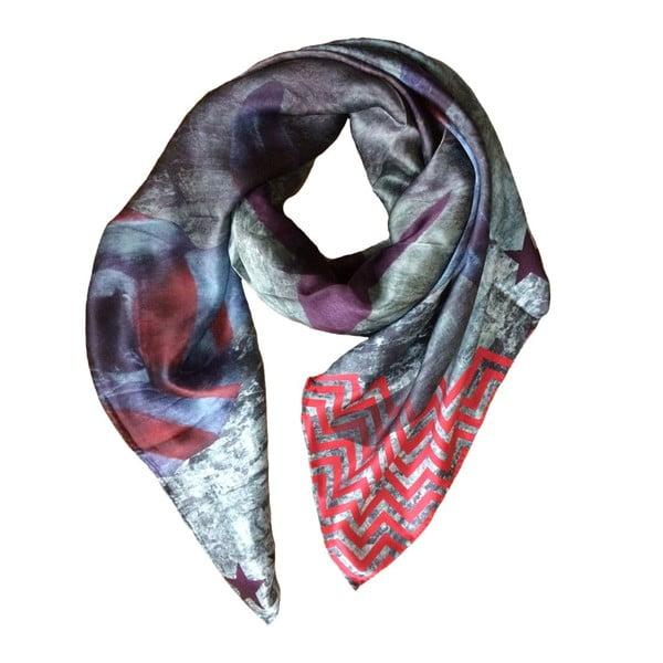 Hedvábný šátek Cowley Pink, 130x130 cm