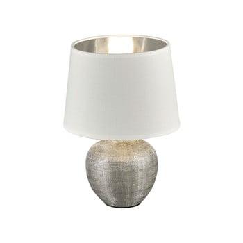 Veioză din ceramică și pânză Trio Luxor, înălțime 26 cm, alb de la Trio