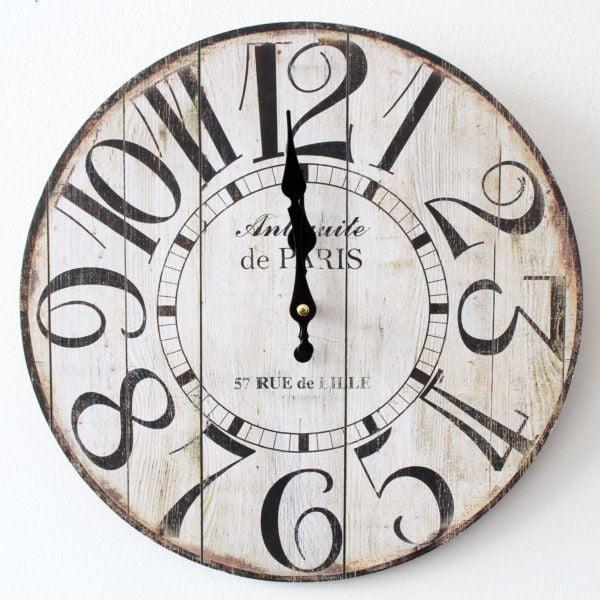 Vintage hodiny Rue de Lille