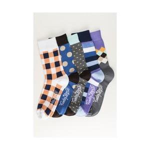 Sada 5 párů unisex ponožek Funky Steps Osten, velikost 39/45